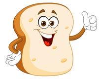 Dessin animé de part de pain Photos stock