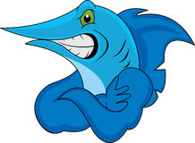 Dessin animé de poissons de marlin Photos libres de droits