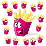 Dessin animé de pommes frites Photos libres de droits