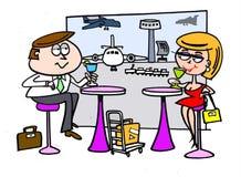 Dessin animé de restaurant d'aéroport Photo libre de droits