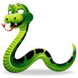 Dessin animé de serpent vert illustration de vecteur