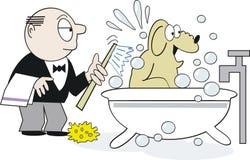 Dessin animé de shampooing de crabot Photo libre de droits