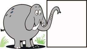 Dessin animé de signe d'éléphant Images libres de droits