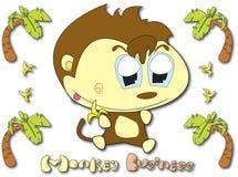 Dessin animé de singe Photo stock