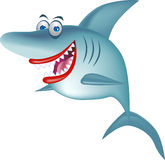 Dessin animé de sourire de requin Photo stock