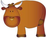 dessin animé de taureau illustration de vecteur