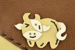 Dessin animé de vache fabriqué à la main Photographie stock libre de droits