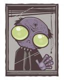 Dessin animé de zombi de bureau illustration libre de droits
