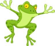 Dessin animé drôle de grenouille Photos stock