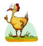 Dessin animé drôle de sourire de poulet Image libre de droits