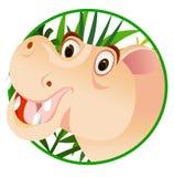 Dessin animé drôle d'hippopotame Image libre de droits