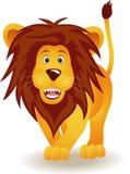 Dessin animé drôle de lion Images libres de droits