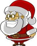 Dessin animé drôle de Santa Photographie stock libre de droits
