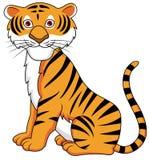 Dessin animé drôle de tigre Images libres de droits