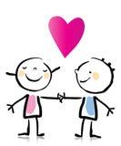 Dessin animé du jour de Valentine Image libre de droits