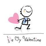 Dessin animé du jour de Valentine illustration de vecteur