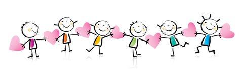 Dessin animé du jour de Valentine Photos stock