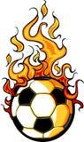 Dessin animé flamboyant de bille du football Image libre de droits
