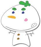 Dessin animé givré de bonhomme de neige Photos libres de droits