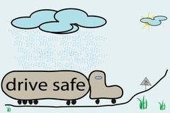 Dessin animé glissant de route Illustration Libre de Droits
