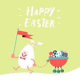 Dessin animé heureux de Pâques Photos stock