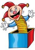Dessin animé Jack In The Box Photos libres de droits