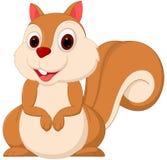 Dessin animé mignon d'écureuil Photos libres de droits