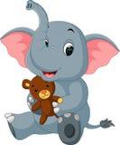 Dessin animé mignon d'éléphant illustration de vecteur