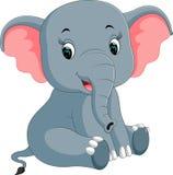 Dessin animé mignon d'éléphant illustration stock