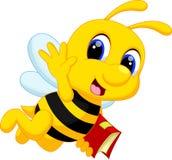 Dessin animé mignon d'abeille Photographie stock