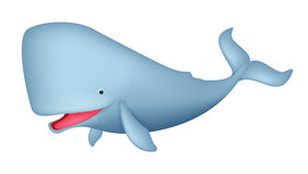 Dessin animé mignon de baleine Photographie stock