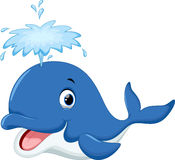 Dessin animé mignon de baleine Photos stock