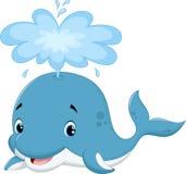 Dessin animé mignon de baleine Photo stock
