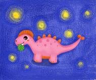 Dessin animé mignon de dinosaur Illustration Libre de Droits