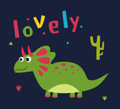 Dessin animé mignon de dinosaur Photographie stock libre de droits