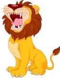Dessin animé mignon de lion Photos libres de droits