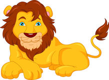 Dessin animé mignon de lion Image libre de droits
