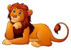 Dessin animé mignon de lion Images stock