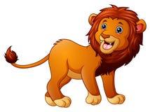Dessin animé mignon de lion illustration de vecteur