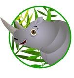 Dessin animé mignon de rhinocéros Photographie stock