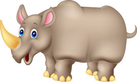 Dessin animé mignon de rhinocéros Image libre de droits