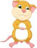Dessin animé mignon de souris Images libres de droits