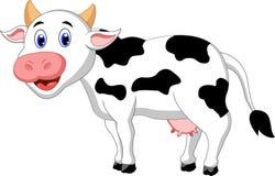 Dessin animé mignon de vache illustration stock
