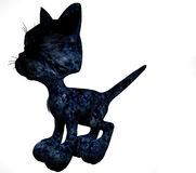 Dessin animé noir de chaton Photographie stock libre de droits