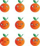 Dessin animé orange photo stock
