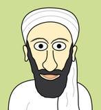 Dessin animé Oussama Ben Laden Photo libre de droits