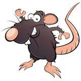 Dessin animé plein d'humour de rat Photo libre de droits