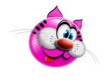 Dessin animé rose de chat Photos stock