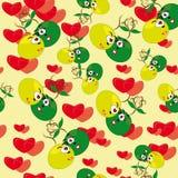 Dessin animé sans joint avec les fraises animated Photo libre de droits