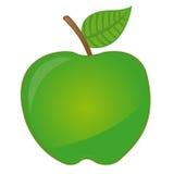 Dessin animé vert de pomme illustration de vecteur